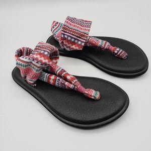 Sanuk Girls Yoga Sling Burst Print Sandals